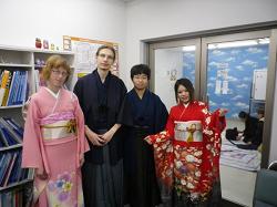 Futaba Students with Kimono