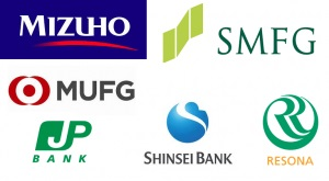 Logo of Japanese banks
