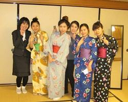 Nagasaki School Students in Kimono