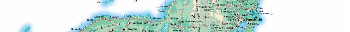 Japanese map showing part of Kanto