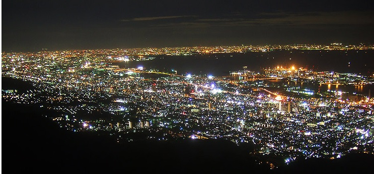 Spectacular view from Mount Rokko