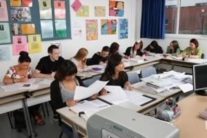 Japanese language school classroom